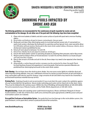 Pool Ash Clean-Up Flyer